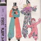 Vintage Sewing Pattern Adult Clown Costume Size 32-34 McCall's 3353 UNCUT