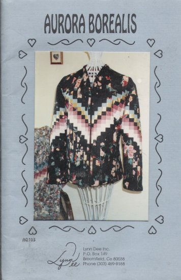 Misses' Aurora Borealis Quilted Jacket Sewing Pattern Size 32-44 Lynn Dee AQ103 UNCUT