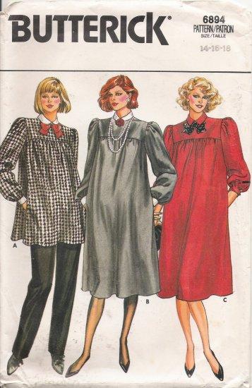 Misses' Maternity Dress & Top Sewing Pattern Size 14-18 Butterick 6894 UNCUT