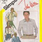 Vintage Sewing Pattern Men's Western Style Shirt Size 42 Simplicity 5439 UNCUT