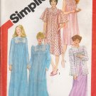 Misses' Nightgown Robe Bed Jacket Sewing Pattern Size 10-12 Simplicity 5330 UNCUT