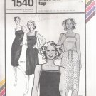 Vintage Sewing Pattern Camisole Dress & Top Bust Sizes 28-42 Stretch & Sew 1540 UNCUT