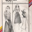 Vintage Sewing Pattern A-Line Wrap Skirt Hip Sizes 30-46 Stretch & Sew 406 UNCUT