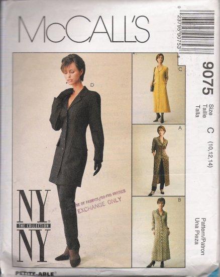 Misses' Jacket Dress Pants Sewing Pattern Size 10-14 McCall's 9075 UNCUT