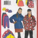 Girls' Jacket Vest Skirt Pants Hat Sewing Pattern Size 7-10 Butterick 5102 UNCUT
