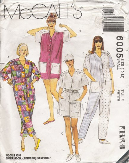 Misses' Jumpsuit Sewing Pattern Size 10-12 McCall's 6005 UNCUT