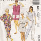 Misses&#39; Jumpsuit Sewing Pattern Size 10-12 McCall&#39;s 6005 UNCUT