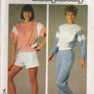 Vintage Sewing Pattern Misses&#39; Top Pants Shorts Size 14-16 Simplicity 6906 UNCUT