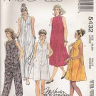Misses' Dress & Jumpsuit Sewing Pattern Size 18-20 McCall's 5432 UNCUT