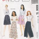 Misses' Skirt Sewing Pattern Size 14-18 McCall's 8006 UNCUT