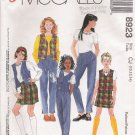Girls' Vest Top Pants Skort Sewing Pattern Size 10-14 McCall's 8923 UNCUT