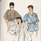 Vintage Sewing Pattern Misses' Top Tunic Dress Size 12 Vogue 8688 UNCUT