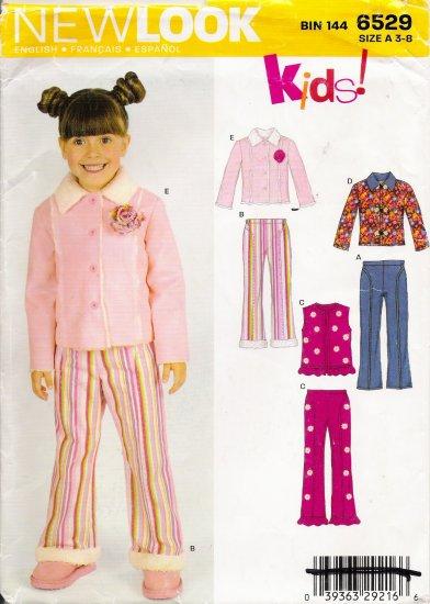 Children's Pants Vest Jacket Sewing Pattern Size 3-8 Simplicity New Look 6529 UNCUT