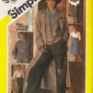 Vintage Sewing Pattern Misses' Coat Jacket Blouse Skirt Trousers Size 14 Simplicity 6576 UNCUT