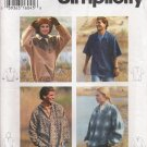 Misses', Men's & Teens' Top Sewing Pattern Size XS-M Simplicity 9226 UNCUT