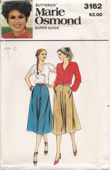 Vintage Sewing Pattern Misses' Skirt Size 12-16 Butterick 3162 UNCUT