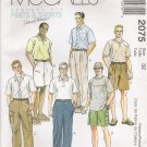 Men's Pants Shorts Sewing Pattern Size 32 McCall's 2075 UNCUT