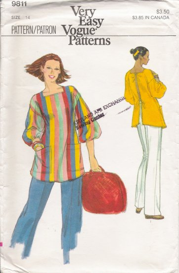 Vintage Sewing Pattern Misses' Top & Pants Size 14 Vogue 9811 UNCUT