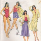 Vintage Sewing Pattern Misses' Jacket Bodysuit Skirt Shorts Size 14 Butterick 3128 UNCUT