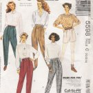 Misses' Slim Pants Or Shorts Sewing Pattern Size 10-14 McCall's 5598 UNCUT