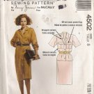 Misses' One & Two-Piece Dress Sewing Pattern Size 8 McCall's 4502 UNCUT