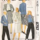 Misses' Jacket Skirt Pants Sewing Pattern Size 12 McCall's 8757 UNCUT