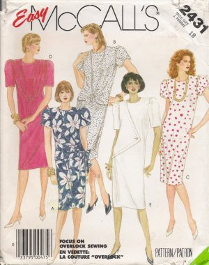 Misses' Dress Sewing Pattern Size 18 McCall's 2431 UNCUT
