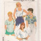 Misses' Pullover Tops Sewing Pattern Size 12 Simplicity 7468 UNCUT
