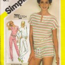 Misses' Pullover Top Pants Shorts Sewing Pattern Size 10-14 Simplicity 6384 UNCUT