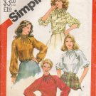 Misses' Asymmetrical Top Sewing Pattern Size 14 Simplicity 5645 UNCUT