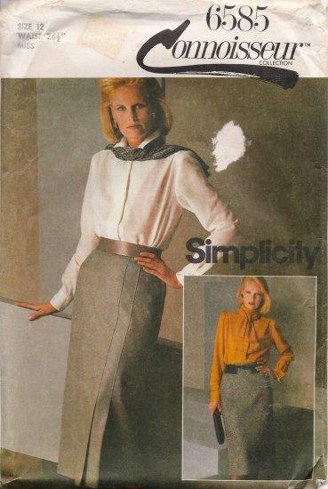Misses' Bias Skirt Sewing Pattern Size 12 Simplicity 6585 UNCUT