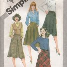 Misses' Bias Skirt Sewing Pattern Size 12 Simplicity 5174 UNCUT