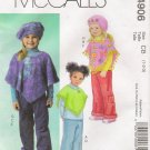 Toddler's & Children's Poncho Pants Hat Sewing Pattern Size 1-3 McCall's 4906 UNCUT