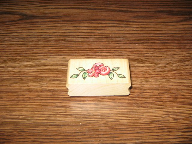 Country Floral Wood Mounted Rubber Stamp by Rubber Stampede
