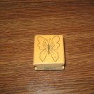 Butterfly Wood Mounted Rubber Stamp by Anne Made Design