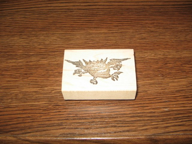 Flying Monster Wood Mounted Rubber Stamp by Rubber Baby Buggy Bumpers