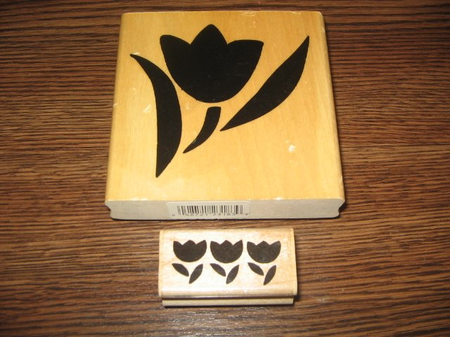 Tulips Wood Mounted Rubber Stamp Lot by Stampendous, Anita's