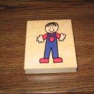 Little Boy Wood Mounted Rubber Stamp by Hero Arts
