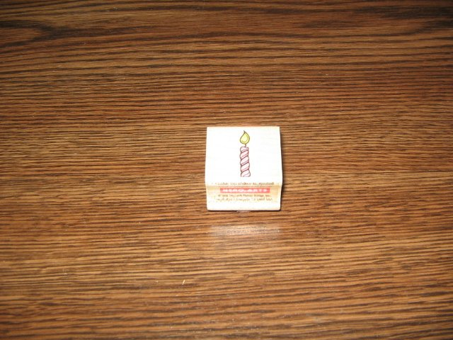 Birthday Candle Wood Mounted Rubber Stamp by Hero Arts