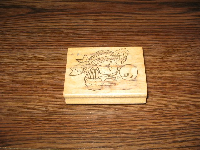 Lamb Wood Mounted Rubber Stamp by Azadi Earles