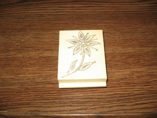 Flower Wood Mounted Rubber Stamp