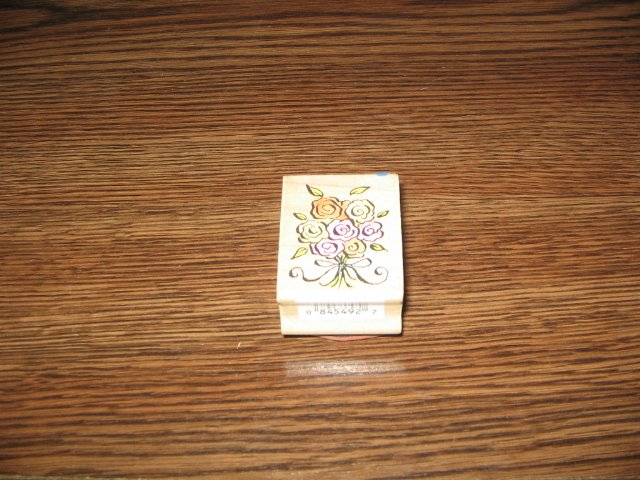 Flower Bouquet Wood Mounted Rubber Stamp by All Night Media