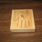 Garden Glove Wood Mounted Rubber Stamp