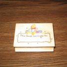 Winnie The Pooh Hunny Bee Bookplate Wood Mounted Rubber Stamp by All Night Media