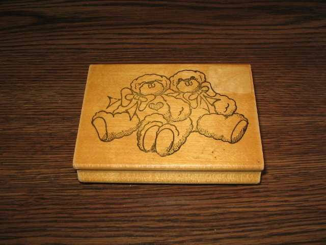 Teddy Bear Pair Wood Mounted Rubber Stamp by Daisy Kingdom