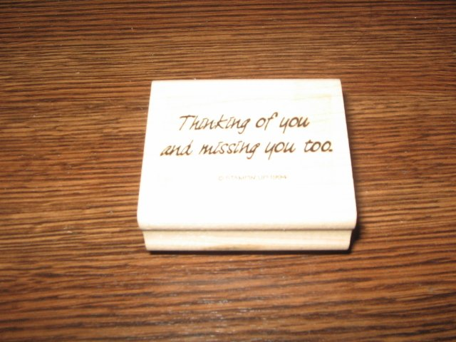 Thinking Of You Wood Mounted Rubber Stamp by Stampin Up