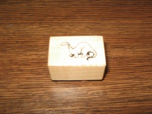 PSX Dinosaur Wood Mounted Rubber Stamp B-112 Retired Collectible