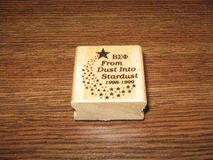 �ΣΦ Beta Sigma Phi From Dust Into Stardust Wood Mounted Rubber Stamp