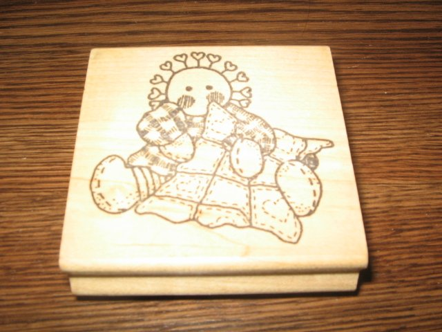 Prim Rag Doll Wood Mounted Rubber Stamp by Azadi Earles