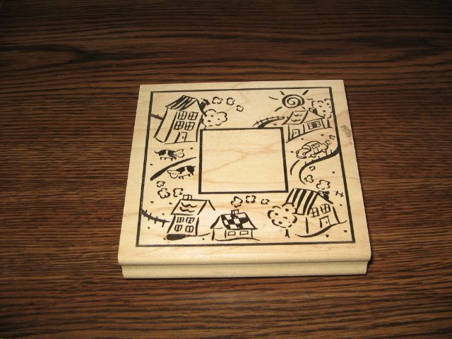 Suburbia Frame Wood Mounted Rubber Stamp by Rubber Stampede